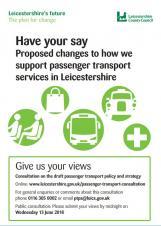 Consultation on proposals for a new Passenger Transport Policy & Strategy