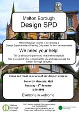 Melton Borough Council is seeking the views of local communities on the design of new development