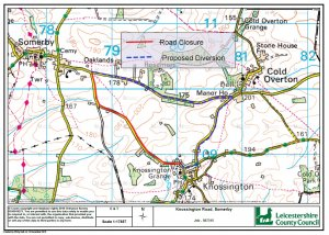 TEMPORARY TRAFFIC REGULATION ORDER KNOSSINGTON ROAD/SOMERBY ROAD